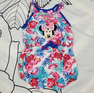 DISNEY Minnie Mouse Watermelon Flower Romper Baby